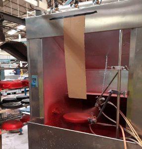 Cabina de pintura fabricada en acero inox. Meyremo. Cantabria